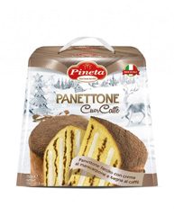 Кекс PINETA 750г Панеттоне з маскапоне-кавовим кремом