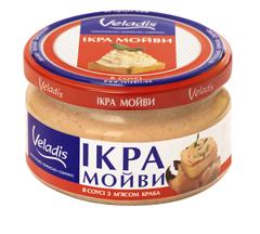 Ікра у соусі Veladis 0,18 кг мойви з м`ясом краба