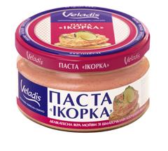 "Паста ""Ікорка"" зі шматочками копченого лосося Veladis 160 г."