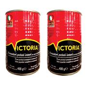 Томати VICTORIA 400г цілі очищені в томатному соку з.б.