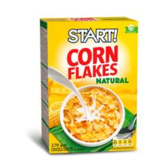 Пластівці Старт 270г кукурудзянi натуральнi