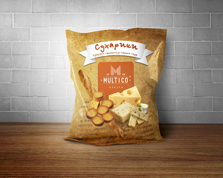 Сухарики Multico 70г пшеничні сир