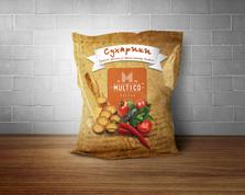 Сухарики Multiсo 70г пшеничні томати спайсі