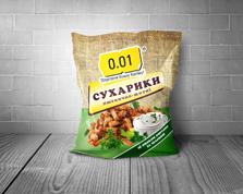 Сухарики 0.01 70г пшенично-житні сметана зелень