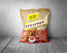 Сухарики 0.01 70г пшенично-житні телятина аджика