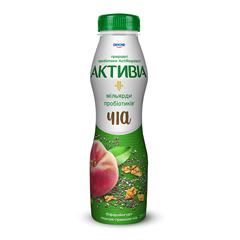 Бiфiдойогурт Активіа 290г 1.5% персик чія гранола