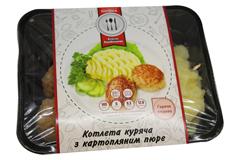 Котлета куряча х картопляне пюре уп К21