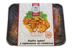 Оладки курячі картопля по-селянськи уп К22