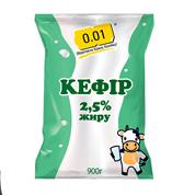 Кефір 0.01 900г 2,5%