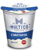 Сметана Multico 350гр 15% стакан