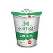 Сметана Multico 350гр 20% стакан