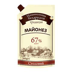 Майонез Білоруські традиції 300г 67% столовий д.п