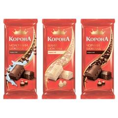 Шоколад Корона 80г молочний пористий