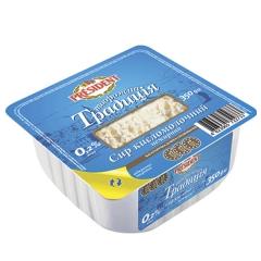 Сир кисломолочний Президент 350г 0.2% творожний