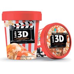 Морозиво Ласка 500г 3D карамель
