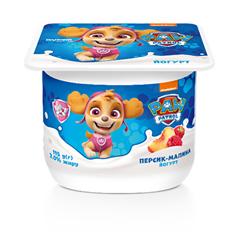 Йогурт Paw Patrol 115г 2% персик малина ст.