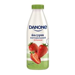 Йогурт Данон 800г 1.5% полуниця