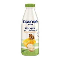 Йогурт Данон 800г 1.5% банан мед горiхи