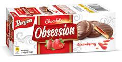 Печиво Bergen Cookies 145г obsession полуничне желе