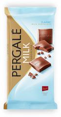 Шоколад Pergale 93гр молочний.