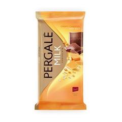 Шоколад Pergale 100гр молочний з карамеллю та сіллю.