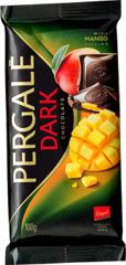 Шоколад Pergale 100гр чорний з начинкою із манго.