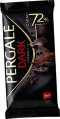 Шоколад Pergale 100гр чорний 72 какао.