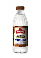 Молоко Ферма 840г 2.5% т.ф