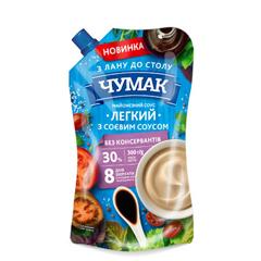 Майонезний соус Чумак 300г легкий соєвий 30% дп