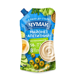 Майонез Чумак 300г апетитний 50% ДП