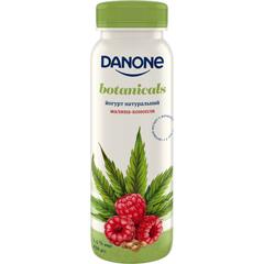 Данон Йогурт питний 1.5 пет 270г малина-конопля