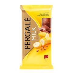 Шоколад Pergale 93гр молочний банан гречка