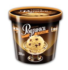 Морозиво Ласка 300г родзинки ром