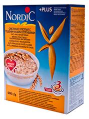 Каша Нордік 600г вівсяні пластівці пшеничні висівки