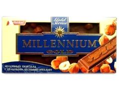 Шоколад Миллениум 90г голд орех молочный