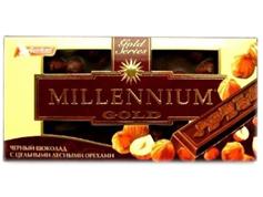 Шоколад Миллениум 90г голд орех черный