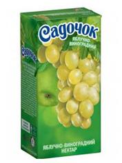 Сік Садочок 0.5л виноград яблуко зелене