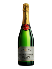 Шампанське Французький бульвар 0.75л брют сухе біле