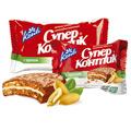 Печенье Супер Контик 50г орех молочная глазурь