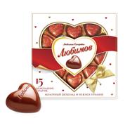 Цукерки Любимов 125г молочний шоколад