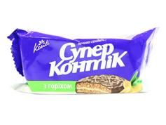 Печиво Супер Контік 100г горіх молочна глазур