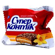 Печиво Супер Контік 50г ваніль молочна глазур