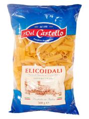 Макарони Del Castello 500г №045 трубки рифленi cпiральнi
