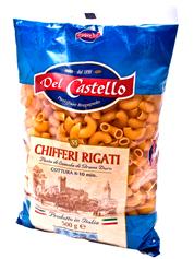 Макарони Del Castello 500г №055 рiжки рифленi