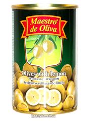 Оливки Маестро 300г лимон