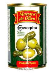 Оливки Маестро 300г на огірочку