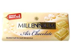 Шоколад Миллениум 90г пористый белый