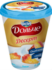 Десерт Дольче 400г 3,4% персик