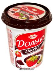 Десерт Дольче 400г 3,4% глазур полуниця