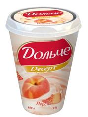 Творожный десерт Дольче Президент 400г 0% персик